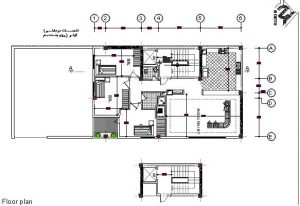 نقشه اجرایی ساختمان چهار طبقه اسکلت فلزی