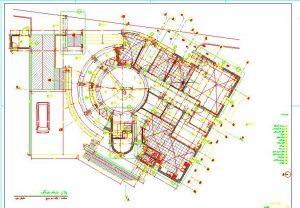 نقشه اتوکد درمانگاه به همراه پلانهای کامل