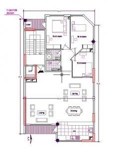 نقشه اتوکد چهارطبقه تجاری مسکونی