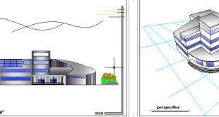 فرهنگسرا پروژه پایانی طراحی فنی،طراحی معماری،طرح 3،طرح