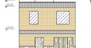 نقشه اتوکد ساختمان ویلایی دوطبقه اسکلت بنایی
