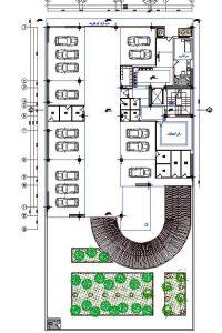 نقشه های اجرایی اسکلت فلزی شش طبقه (کد118)